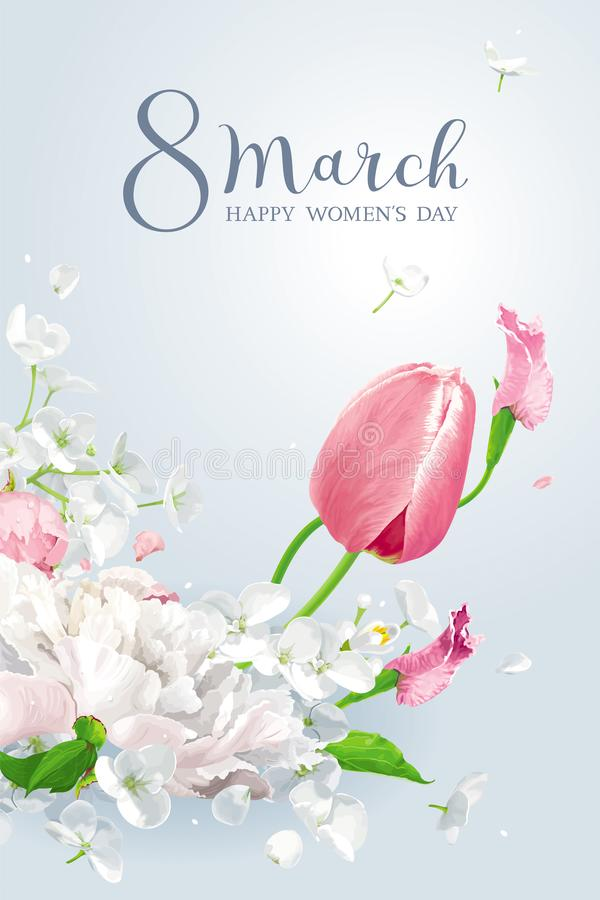Free Spring Flowers For 8 March Royalty Free Stock Photo - 139299525