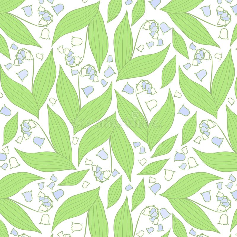 Spring flowers pattern. Blue and white pattern. royalty free stock photos
