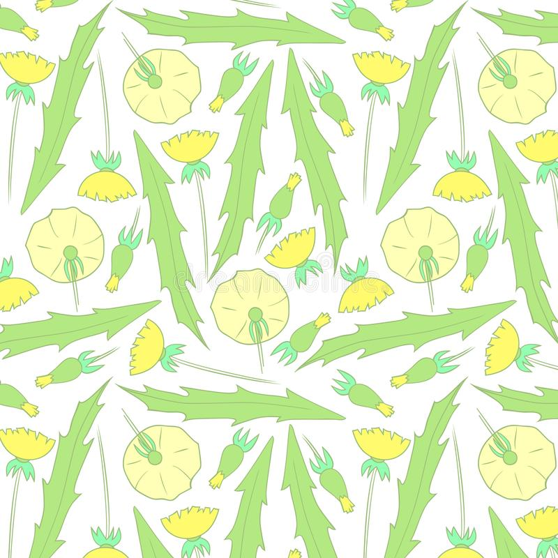 Spring flowers pattern. Yellow pattern. stock photo