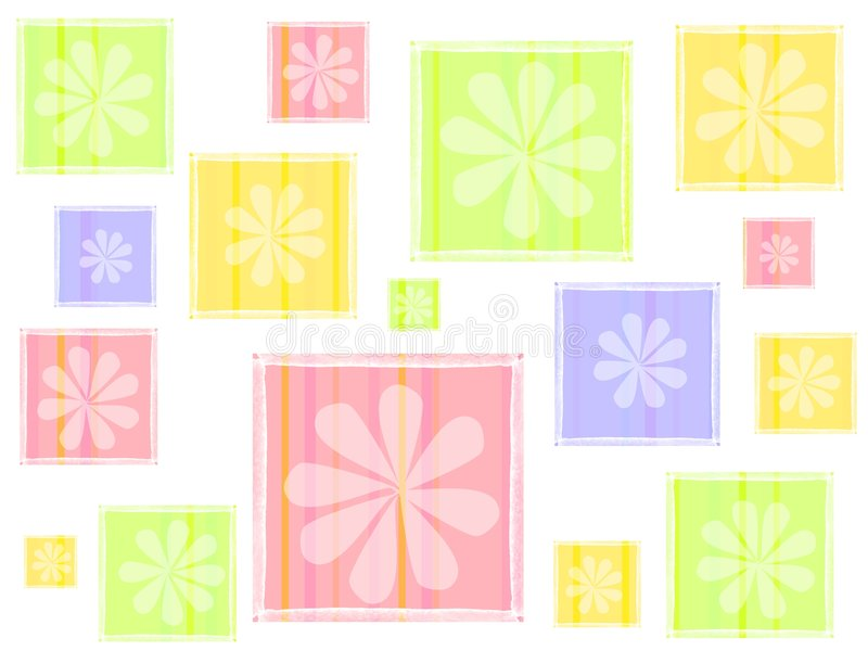Spring Flowers Seamless Background