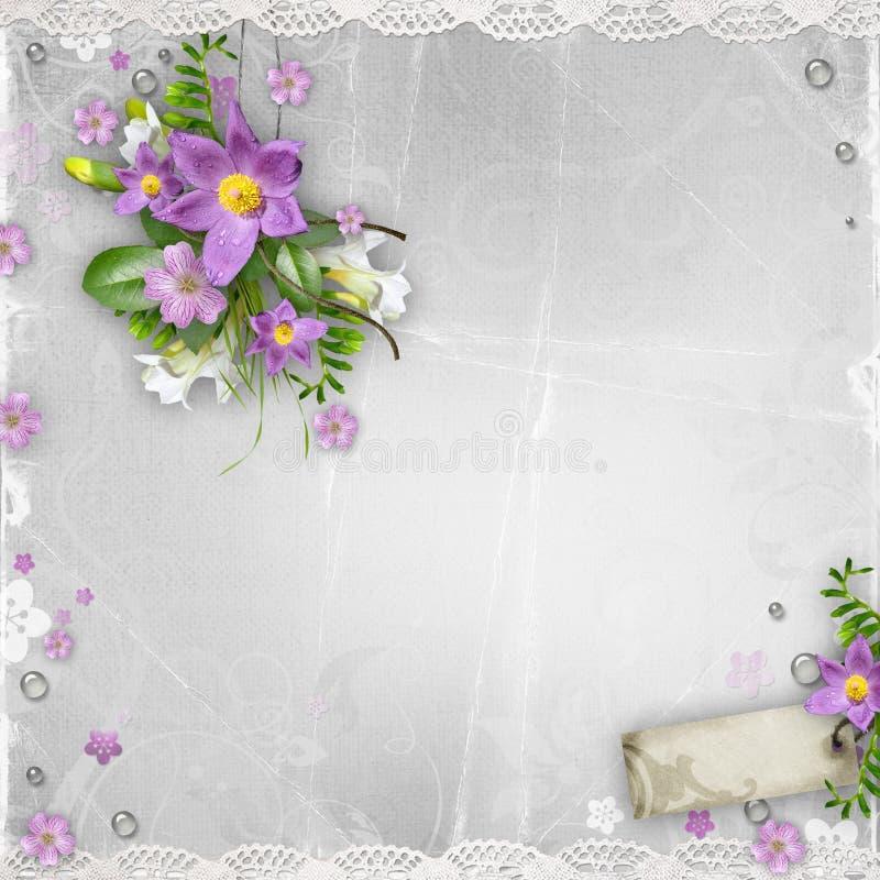Download Spring Flowers On Textured Backgr Stock Illustration - Illustration: 24339154