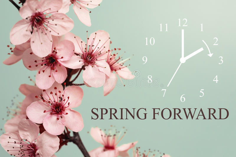 Spring Forward. Daylight Saving Time Begins Concept royalty free stock image