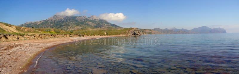 Spring in the Foxbay. Foxbay, the eastern part of Crimean Peninsula, Ukraine, the Black sea coast royalty free stock photo