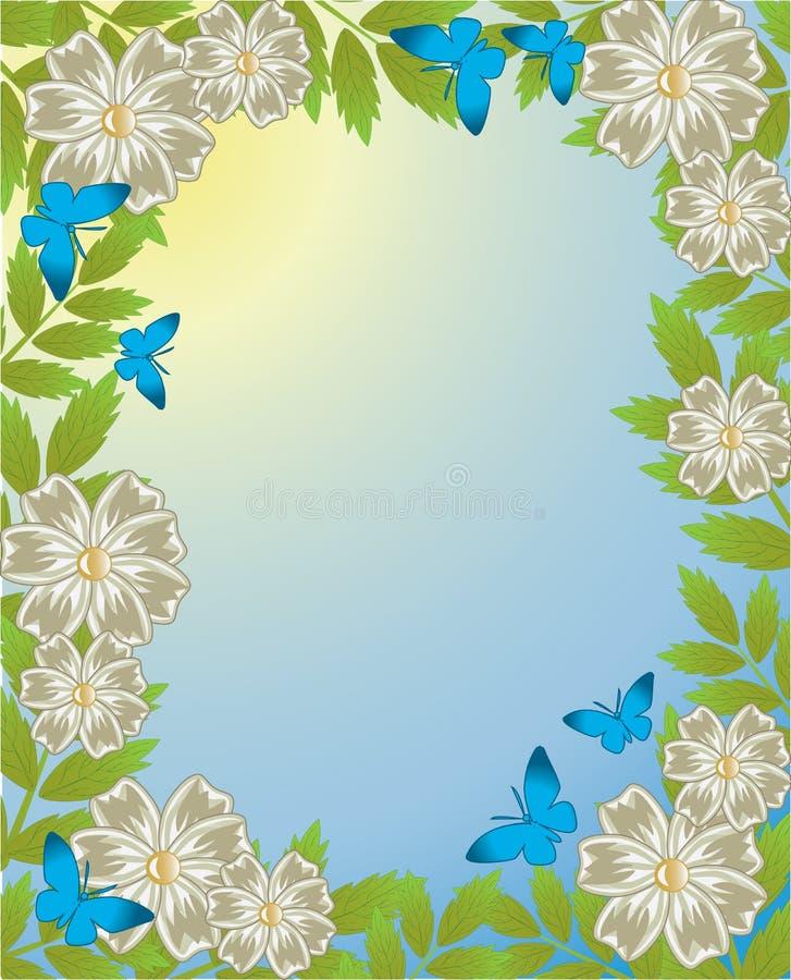 Download Spring frame stock vector. Image of blue, herb, element - 12701239