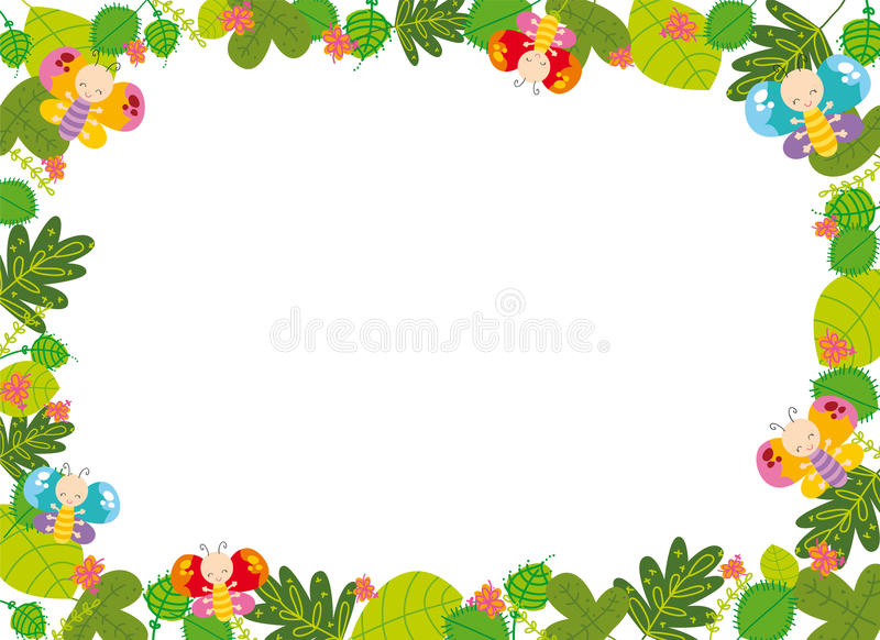 Spring frame stock vector. Illustration of graphic, insect - 24173038