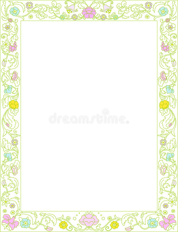 Download Spring frame  with flowers stock vector. Illustration of album - 23435425