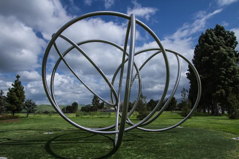 Spring in Fremont Ca. the rings of spring. April Spring in Fremont Ca. Blue sky, clear cloud royalty free stock images