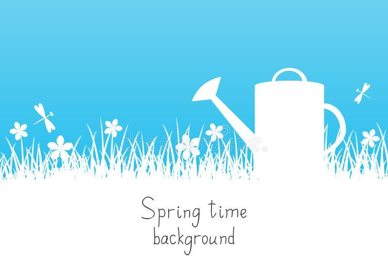 Spring garden background stock illustration
