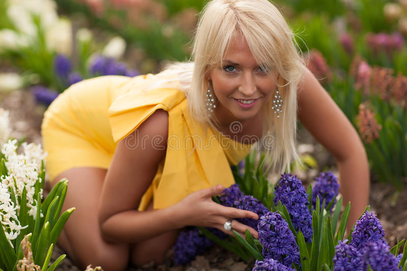 Download Spring garden stock photo. Image of flower, hair, face - 30920458