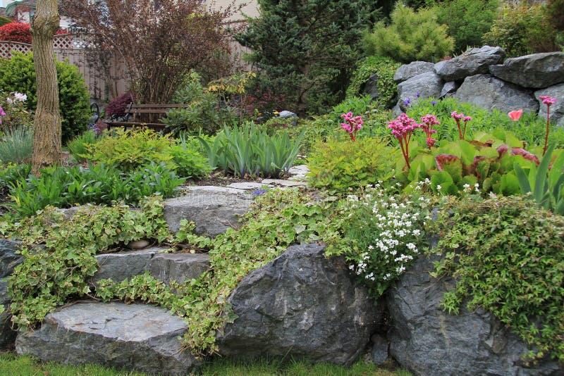 Spring garden path royalty free stock photography