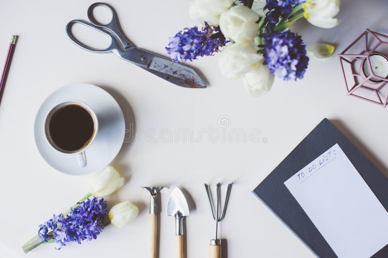 Spring gardener plan or to do list on table with empty space on download spring gardener plan or to do list on table with empty space on white background mightylinksfo