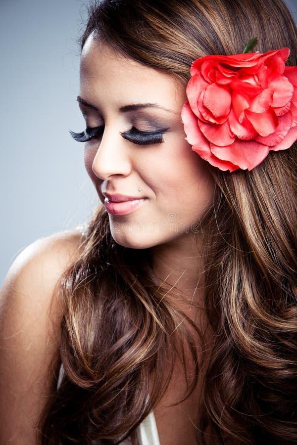 Download Spring girl stock photo. Image of down, eyelashes, decorative - 18738052