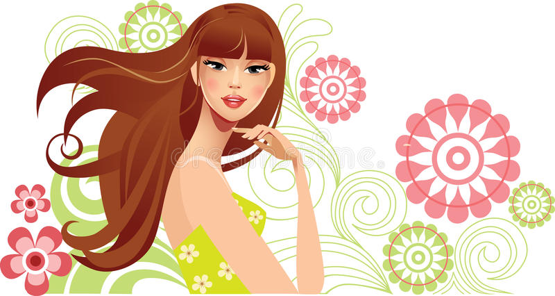 Download Spring girl stock vector. Image of herbal, hand, cute - 22783925