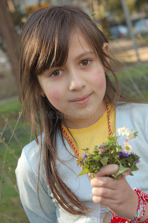 Spring girl stock photography