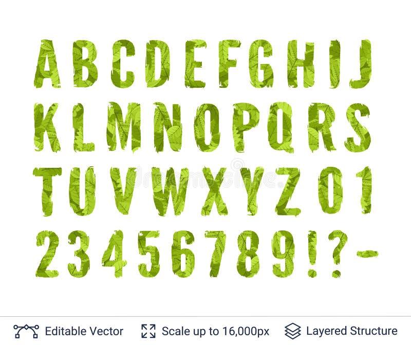 Spring green bright symbols collection. stock illustration
