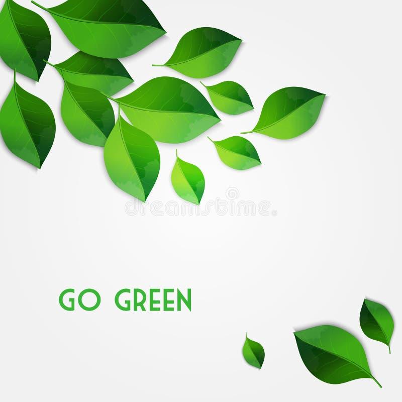 Spring green leaves background. Go green concept. Vector Spring green leaves background. Go green concept stock illustration