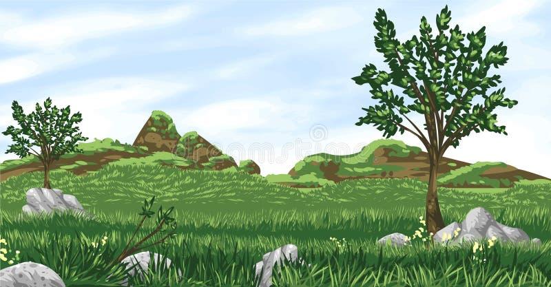 Spring Green Valley stock illustration
