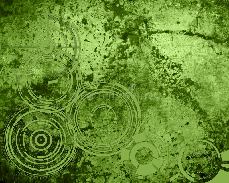 Spring 2017 Greenery abstract background grunge. With circle patterns stock illustration