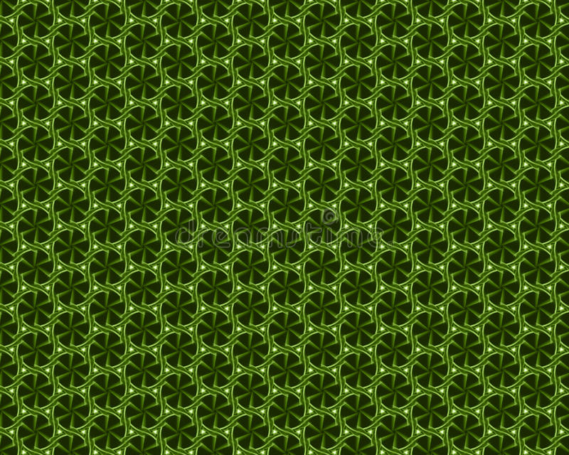Spring 2017 Greenery abstract background pattern. With geometric pattern on black background stock illustration