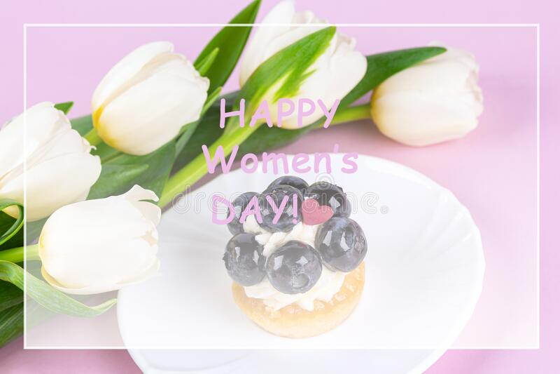 Spring greeting card stock image