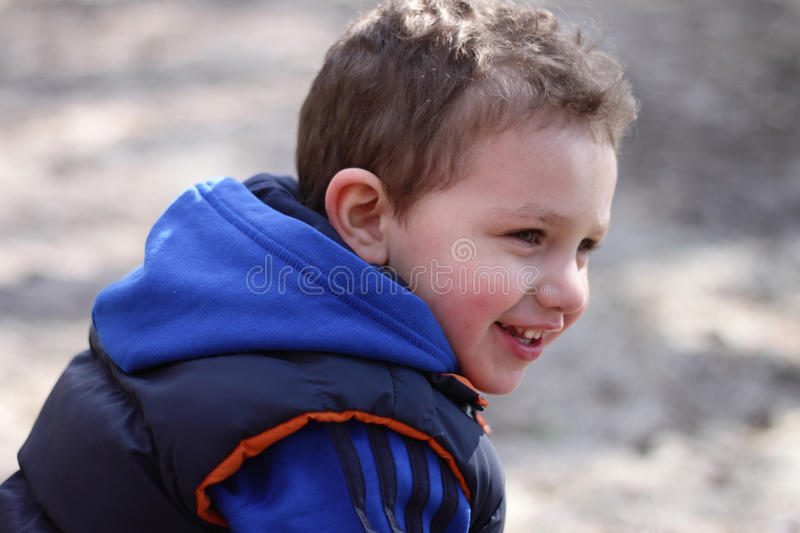 Spring Handsome Boy Outdoors Royalty Free Stock Photos