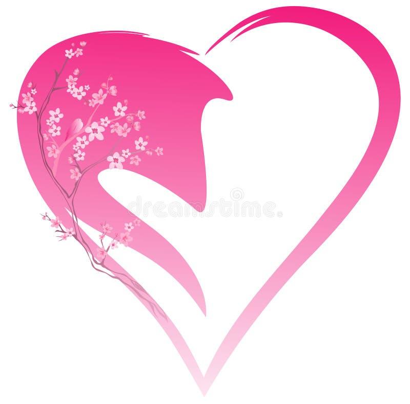 Spring heart vector illustration
