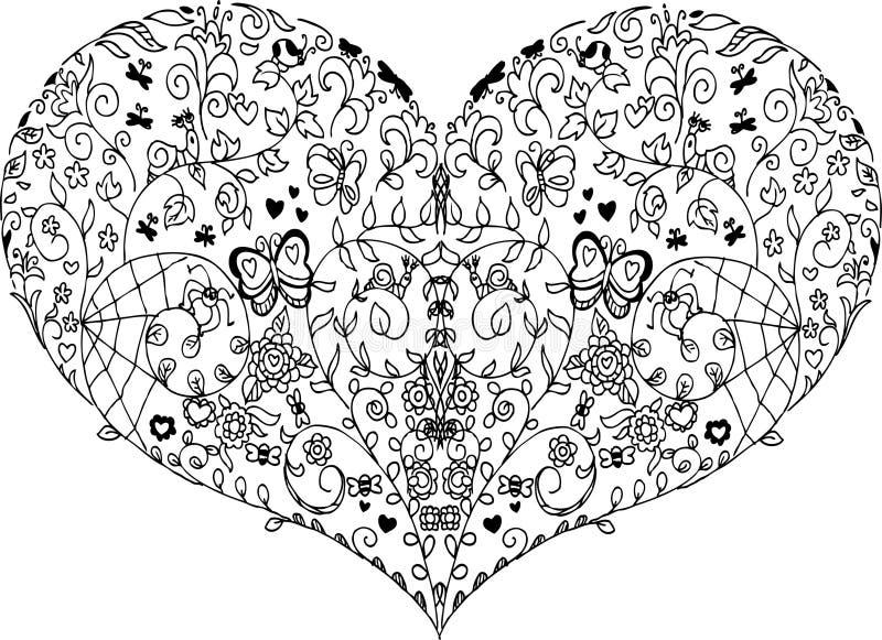 Spring heart mandala stock vector Illustration of heart 83423303