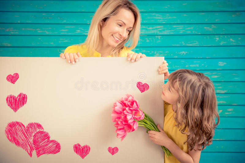 Spring holiday. Mother`s day concept stock images