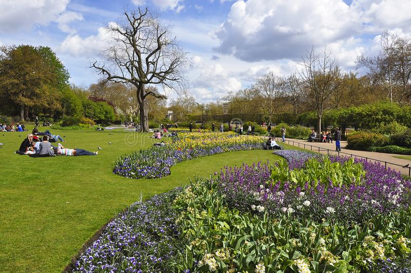 Spring in Hyde park, London, UK stock photography
