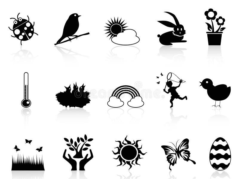 Spring icons set vector illustration