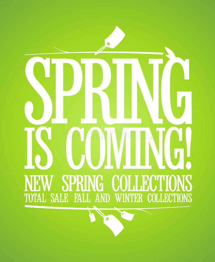 Free Spring Is Coming Design. Stock Photo - 29096090