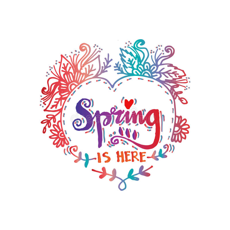 Free Spring Is Here Royalty Free Stock Photography - 89558437