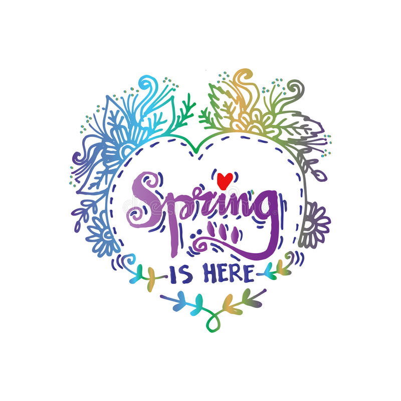Free Spring Is Here Royalty Free Stock Image - 89558446