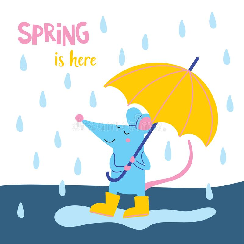 Free Spring Is Here Vector Illustration Royalty Free Stock Photography - 176693757