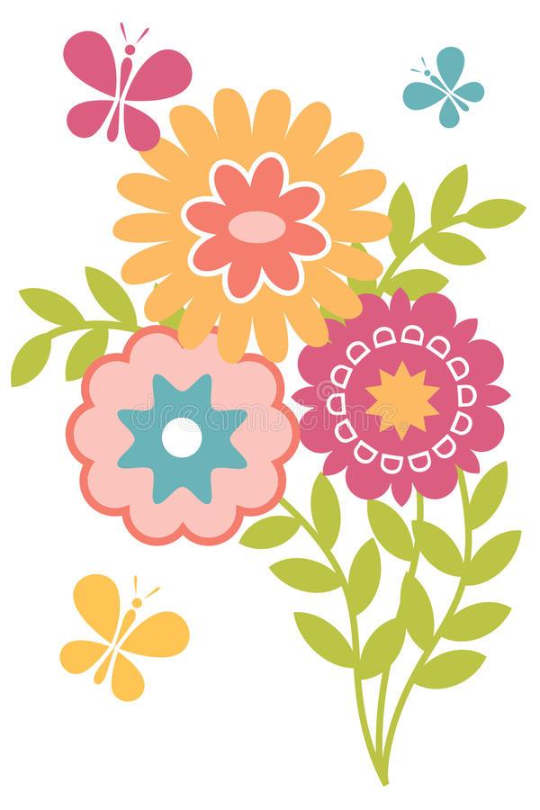 Spring isolated floral image vector illustration