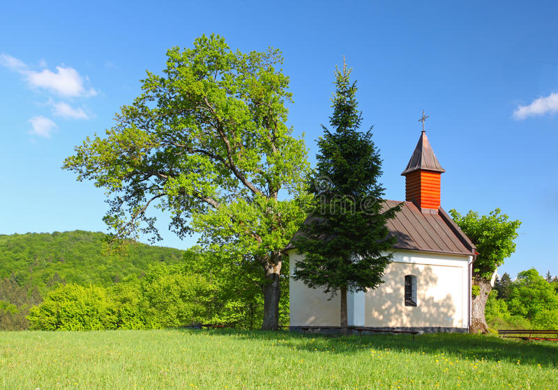 Download Spring Landcape With Chapel In Eastern Europe - Sl Royalty Free Stock Image - Image: 25122736