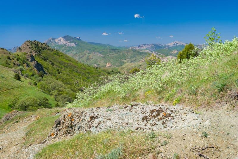 Spring landscape in Kara-dag natural reserve royalty free stock image