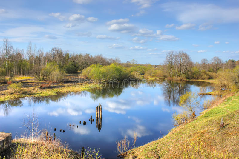 Spring landscape, Russia royalty free stock photo