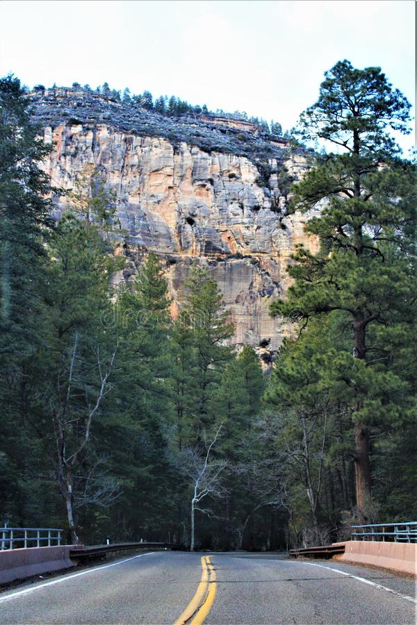 Landscape Scenery, Maricopa County, Oak Creek Canyon, Arizona, United States. Spring landscape scenery view of the mountains and area vegetation from Oak Creek royalty free stock photos