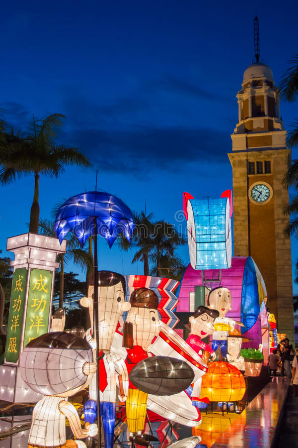 Spring Lantern Festival in Hong Kong stock images