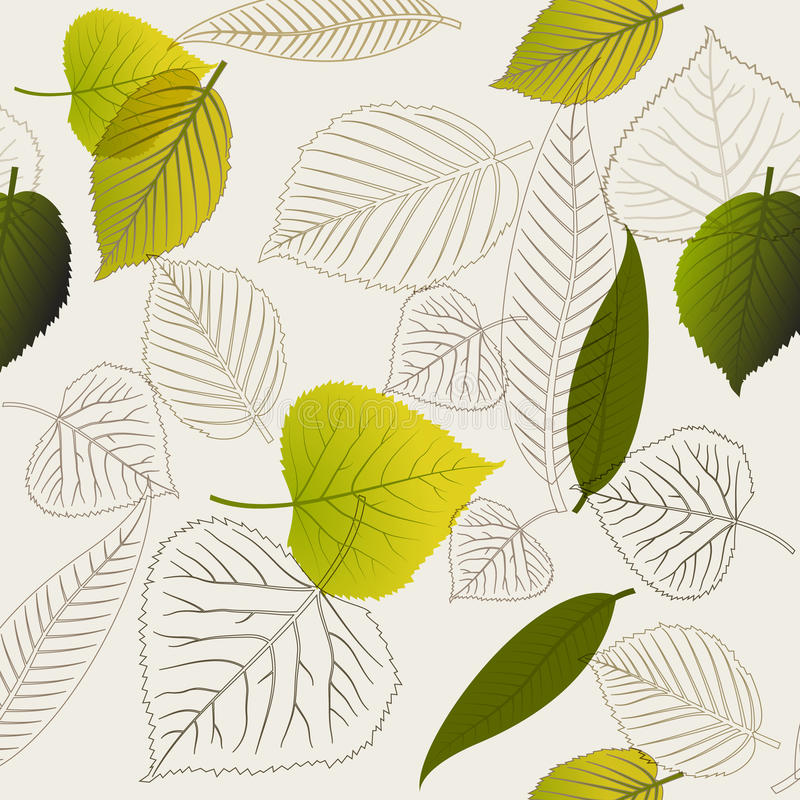 Download Spring Leafs Abstract Seamless Pattern Stock Illustration - Illustration of illustration, fall: 20316244