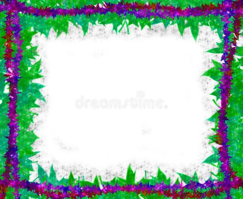 Spring leaves [maple] Border frame on white stock illustration