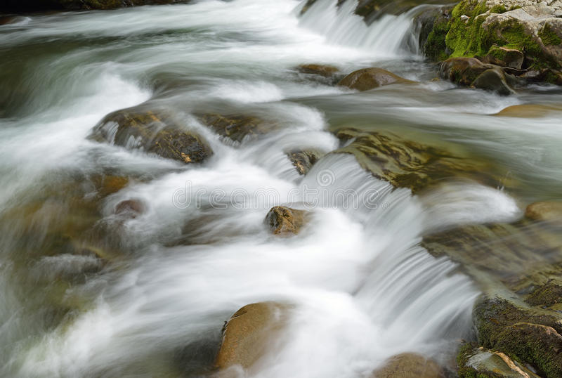Spring, Little Pigeon River. Spring landscape of a cascade and rapids on the Little Pigeon River, Great Smoky Mountains National Park, Tennessee, USA royalty free stock photography