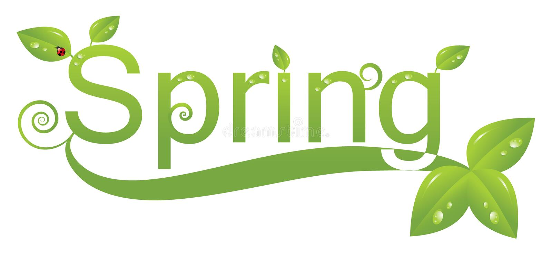Spring logo design stock illustration