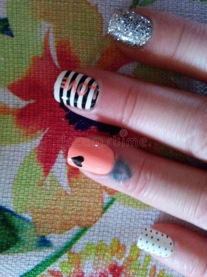 Spring Manicure stock photo
