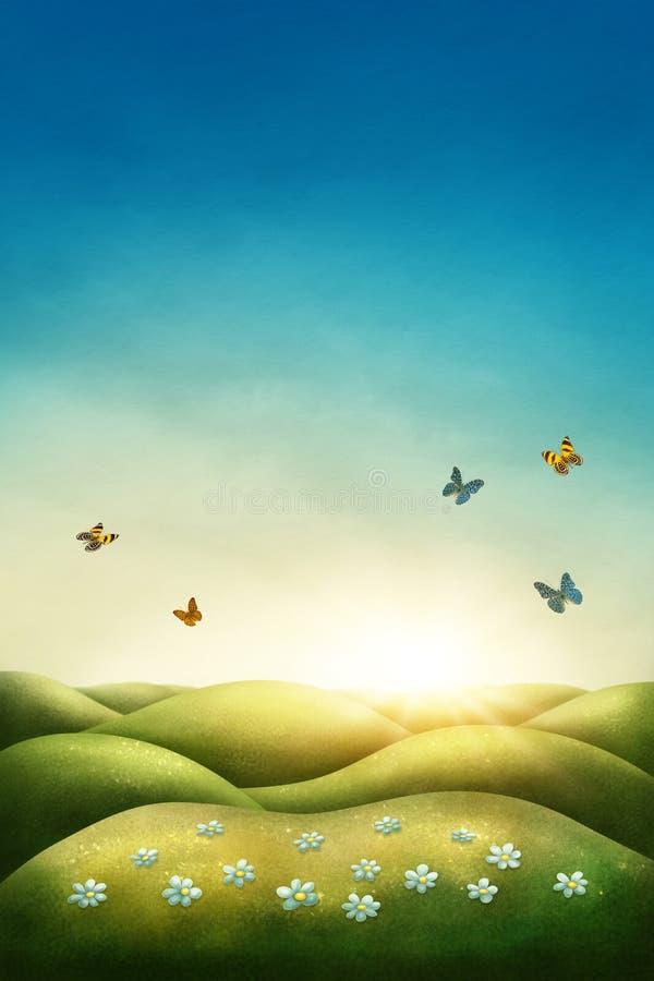 Spring meadow stock illustration