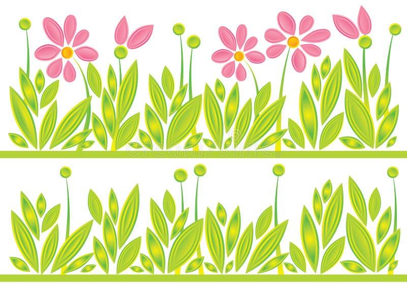 Spring_meadow_pattern ilustração royalty free