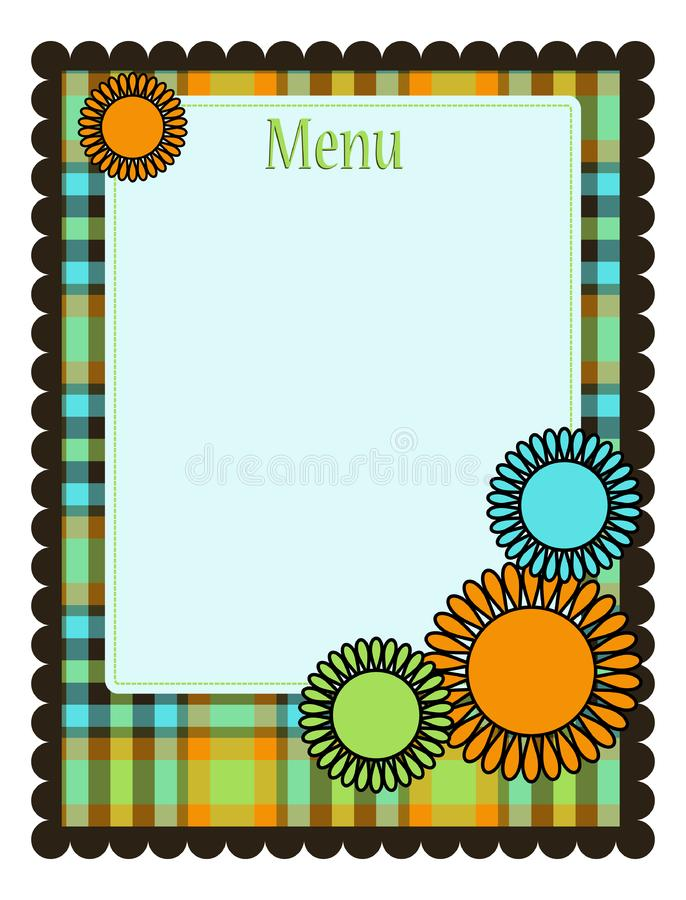 Spring menu template royalty free stock images