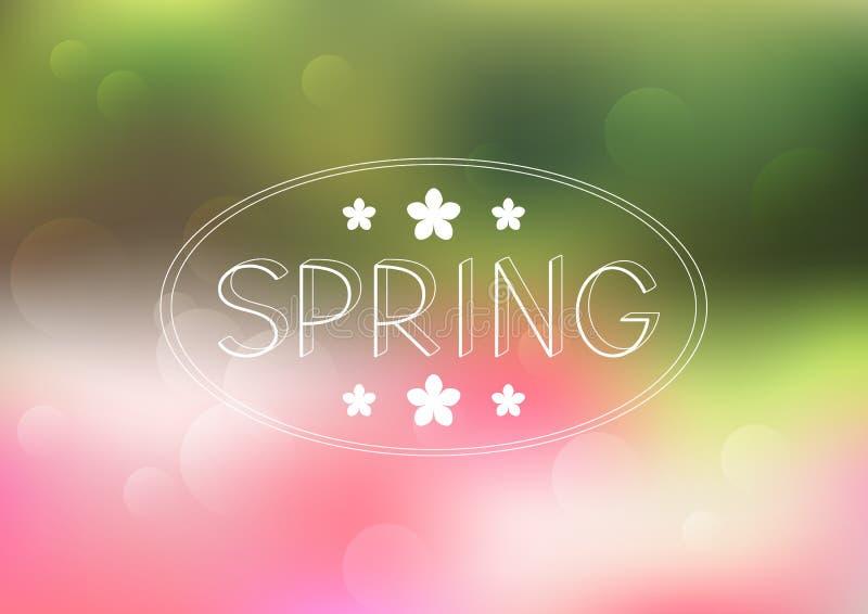 Spring mesh background vector illustration