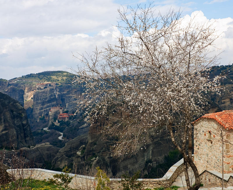 Download Spring at Meteora stock photo. Image of church, famous - 26682624